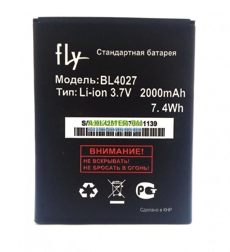 Аккумулятор для Fly IQ4410, BL4027, 1800мАч